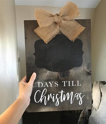 Christmas Countdown  - Wood Sign