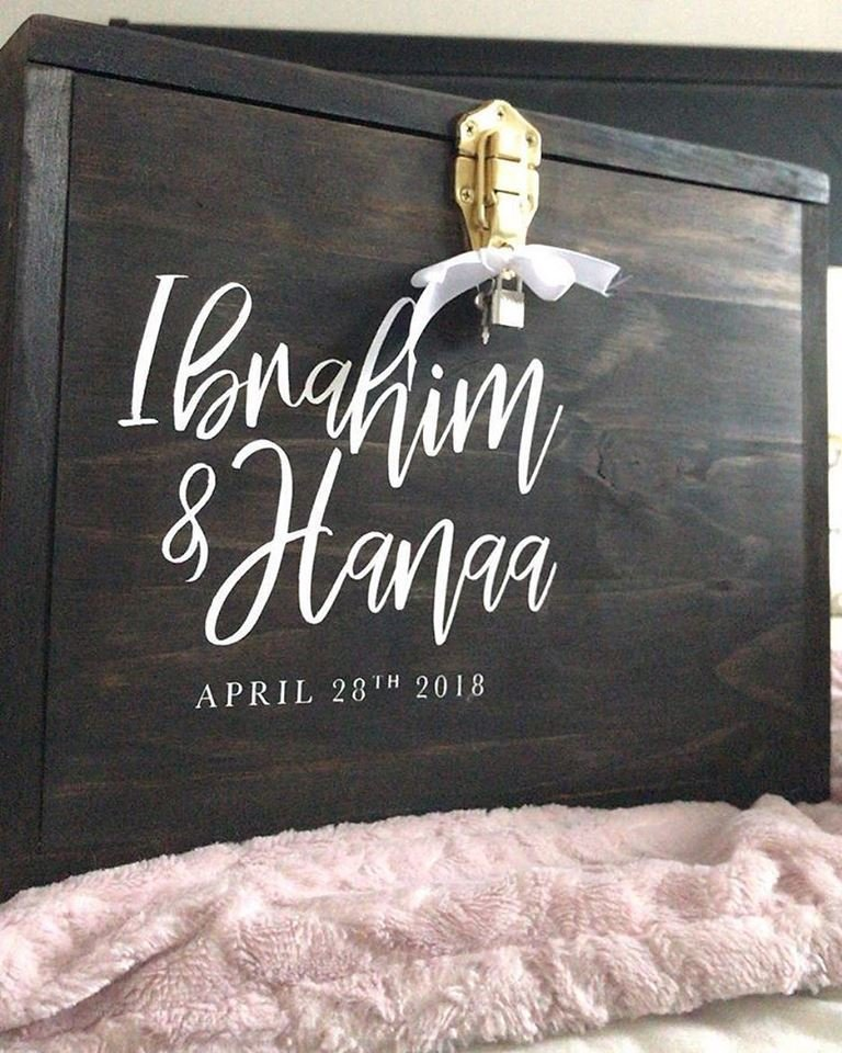 Wood Card Box | Weddings 00196