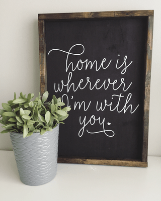 """Home is wherever I'm with you"" 