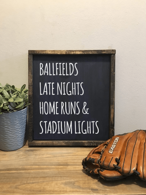 Baseball | Wood Sign