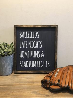 Baseball | Wood Sign