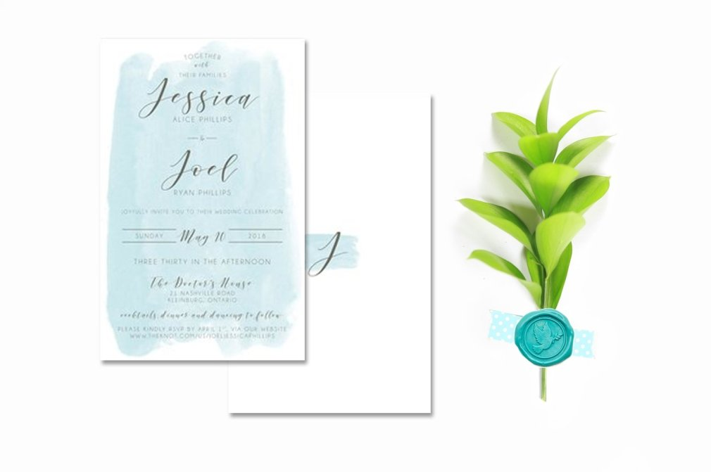 Teal Invitations