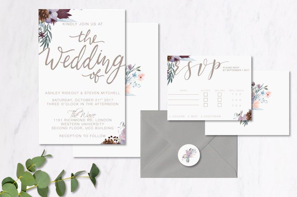 Winter Wedding Invitations 00261