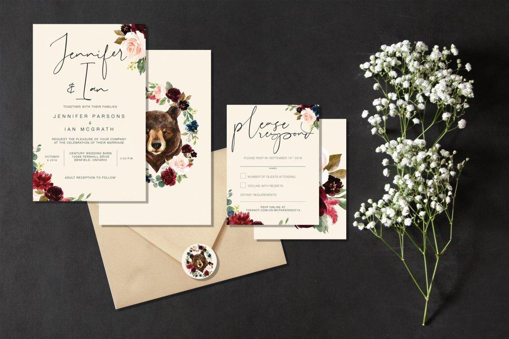 Woodland Wedding Invitations 00262