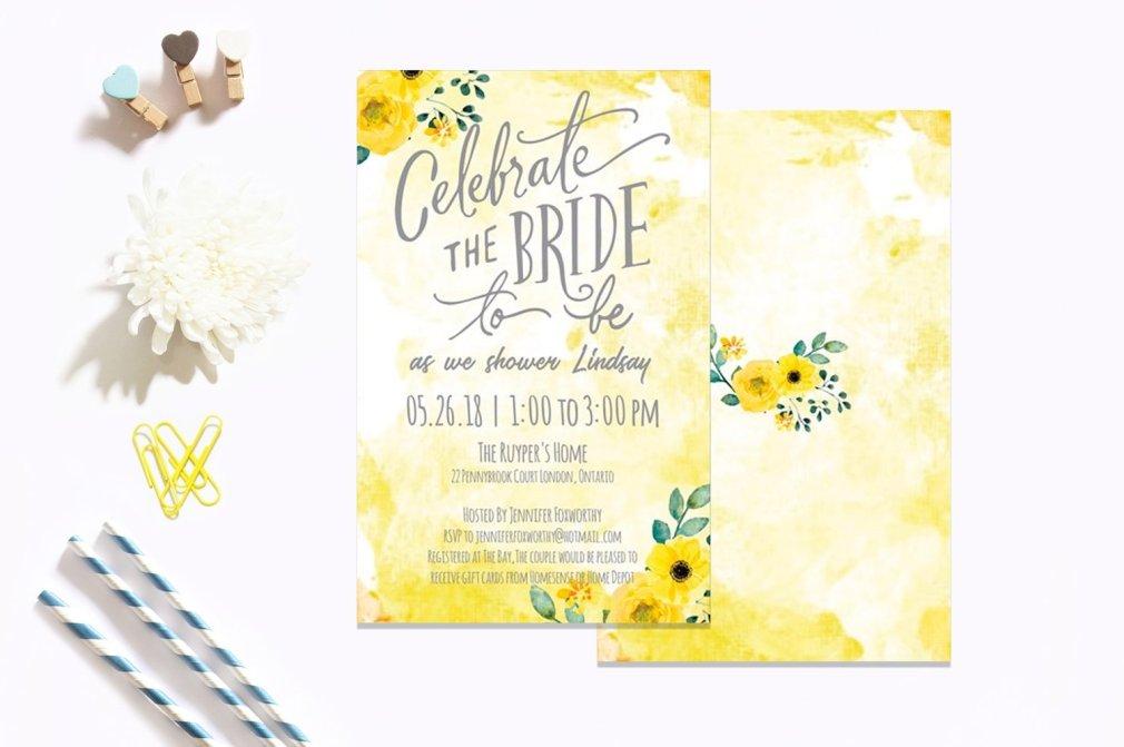 Yellow Bridal Shower
