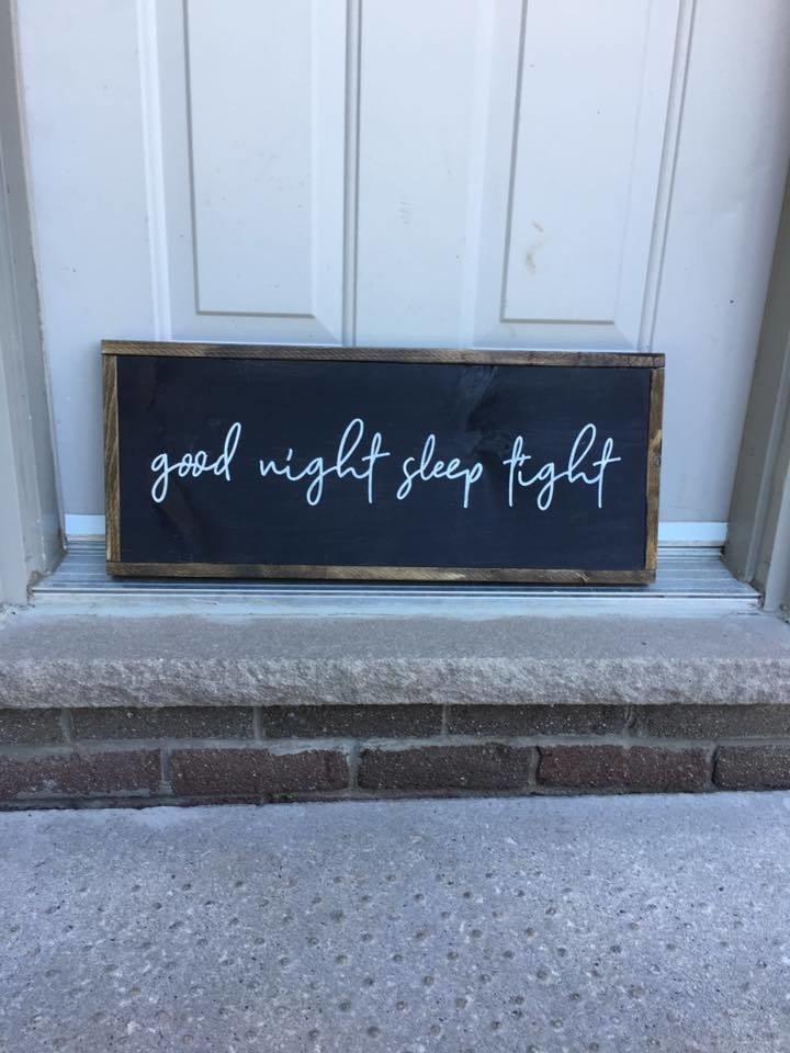 Good night sleep tight | Wood Signs 00281