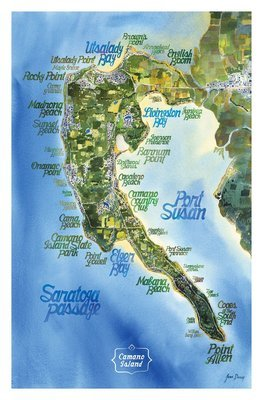 Map - Beaches of Camano - Poster (8x13)