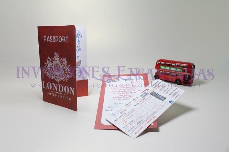 Invitación Pasaporte London