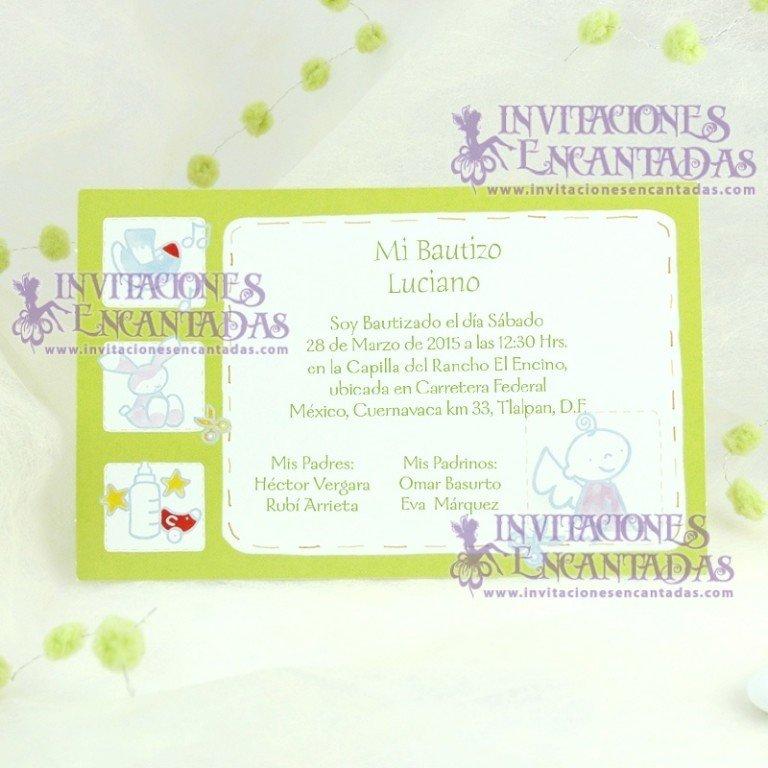Invitación Bautizo Postal 01 InvBauPos01