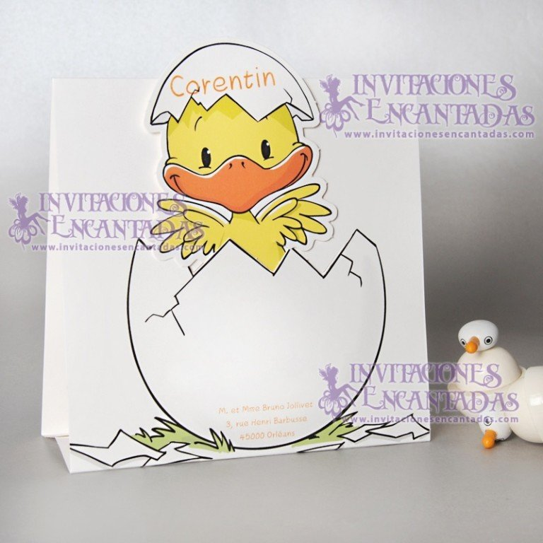 Invitación Bautizo Creative 024 InvBauCrea024