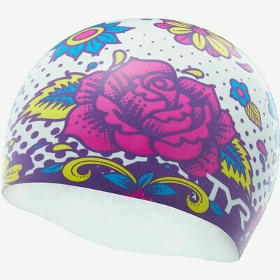 Шапочка для плавания TYR FLOWER POWER SWIM CAP