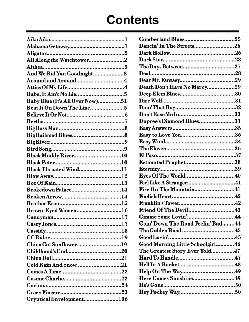 GD BookTable of Contents 1