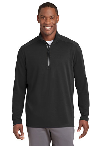 Men's Sport-Tek® Sport-Wick® Textured 1/4-Zip Pullover