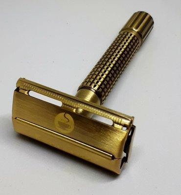 Espresso Safety Razor. 100% Noble Golden Brass. Lifetime Warranty. Super sale!