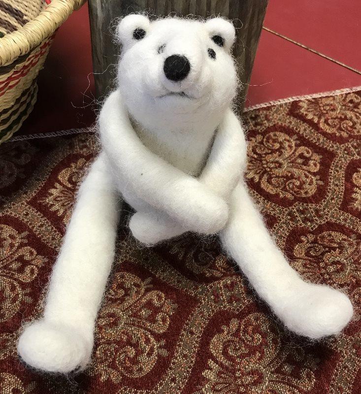 Needle Felted Polar Bear