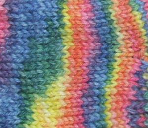 Alpaca and Superwash Wool Sock Yarn  - Tye Dye
