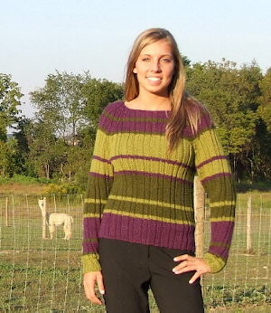 Striped Rib Pullover by Beth Lutz AYC-111100