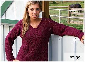 Striped Rib Pullover by Beth Lutz