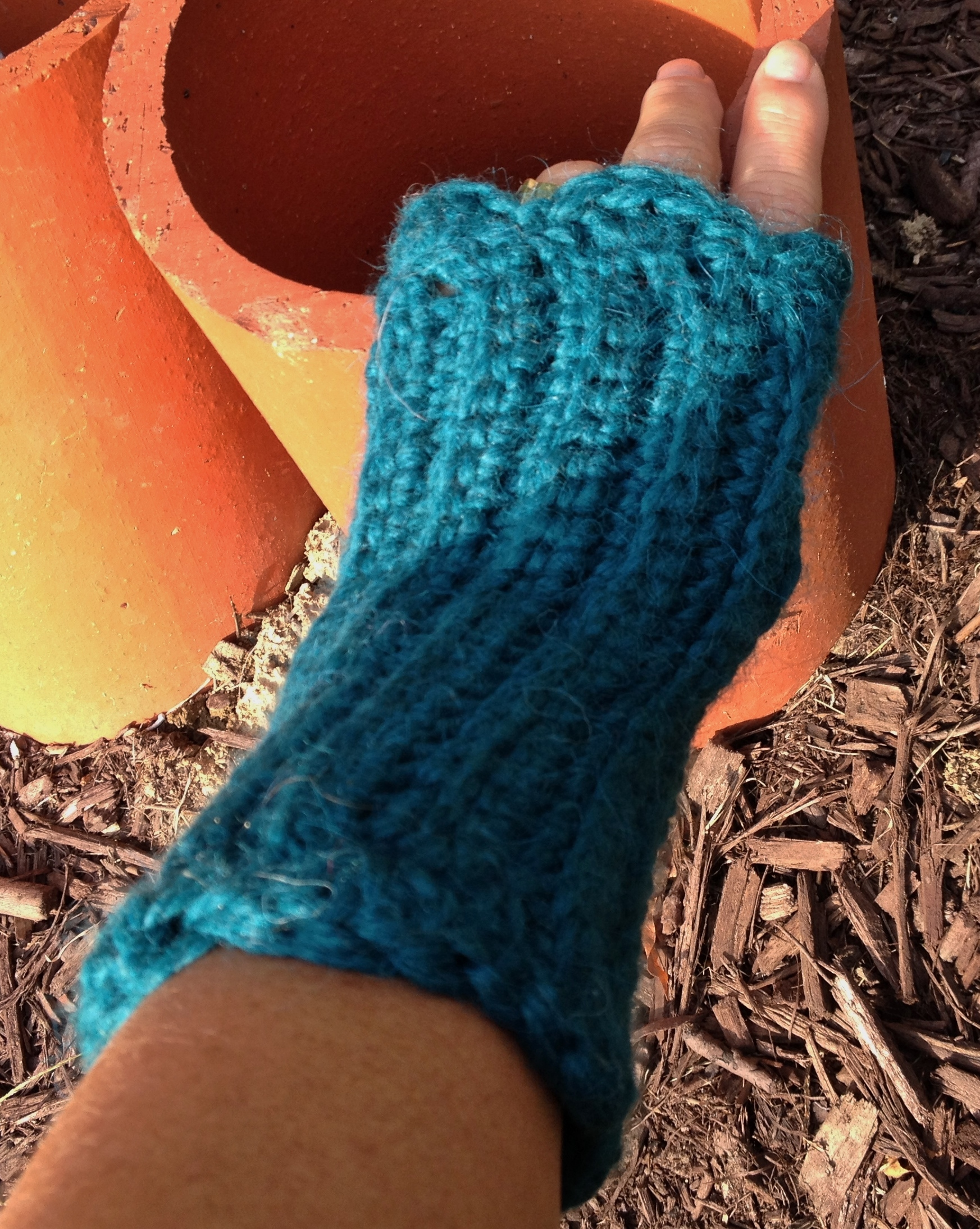 Ribbed Fingerless Gloves - Snuggle 17632