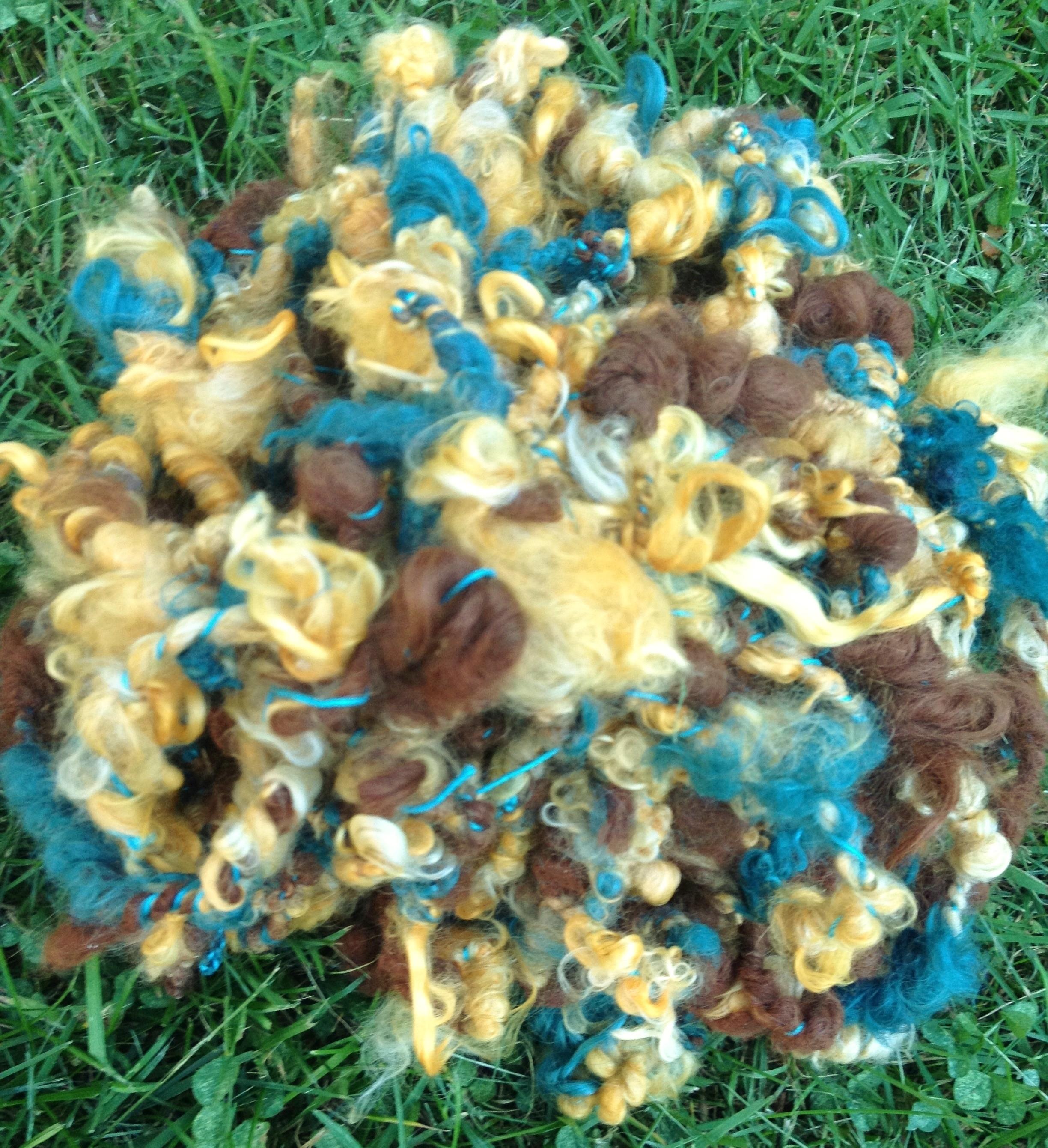 Suri Art Yarn - Cedar, Citrus, Medium Brown 17635