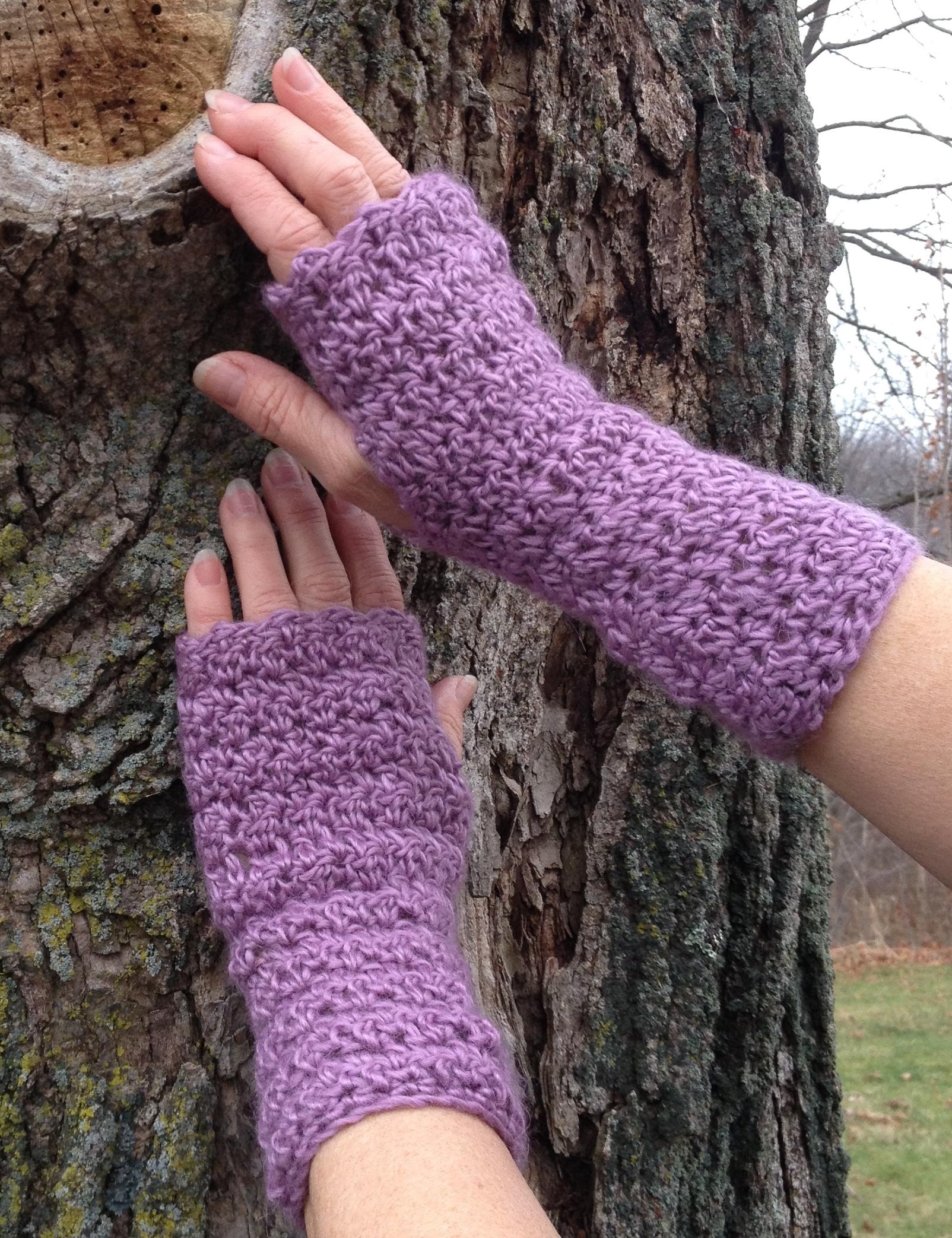 Textured Fingerless Gloves - Astral
