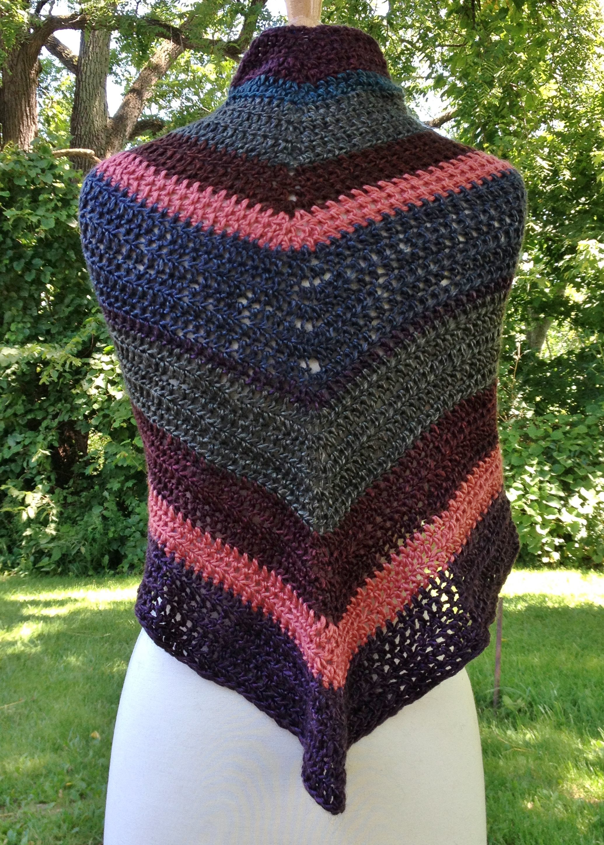 Striped Triangular Shawl - Made to Order