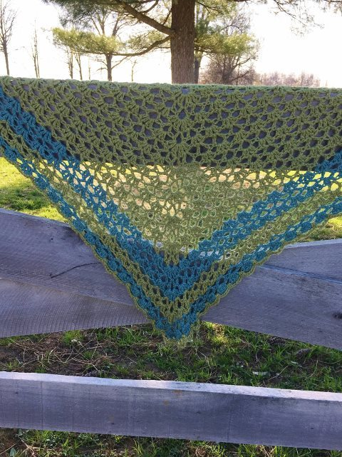 Triangular Alpaca Shawl