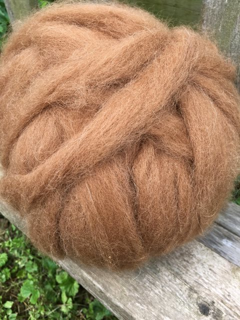 Alpaca Roving - Medium Fawn, Annalise