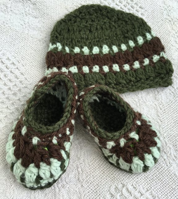Baby Alpaca Booties and Hat Set - Made to Order 17938