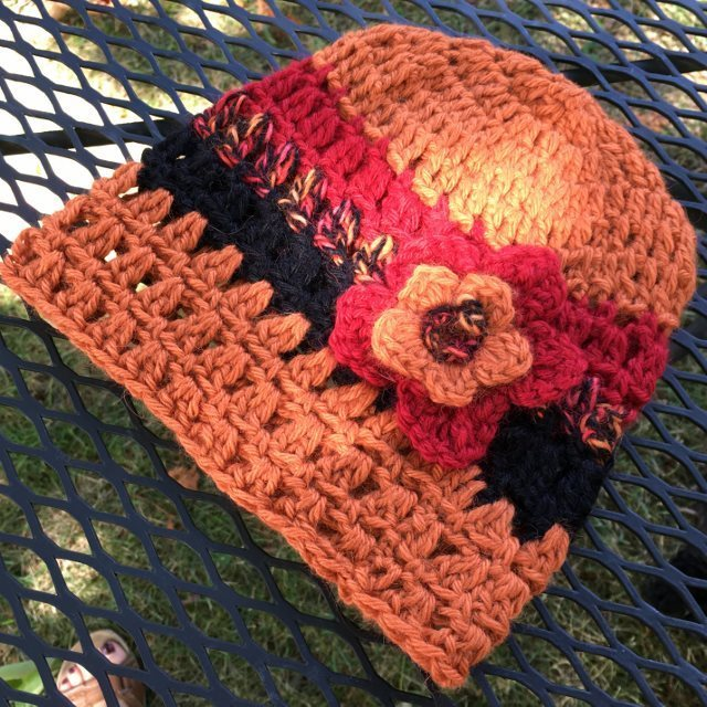 Alpaca Hat with Flower - Tiger Lily 17945