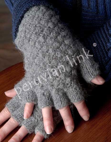 Textured Fingerless Alpaca Gloves PL-16944