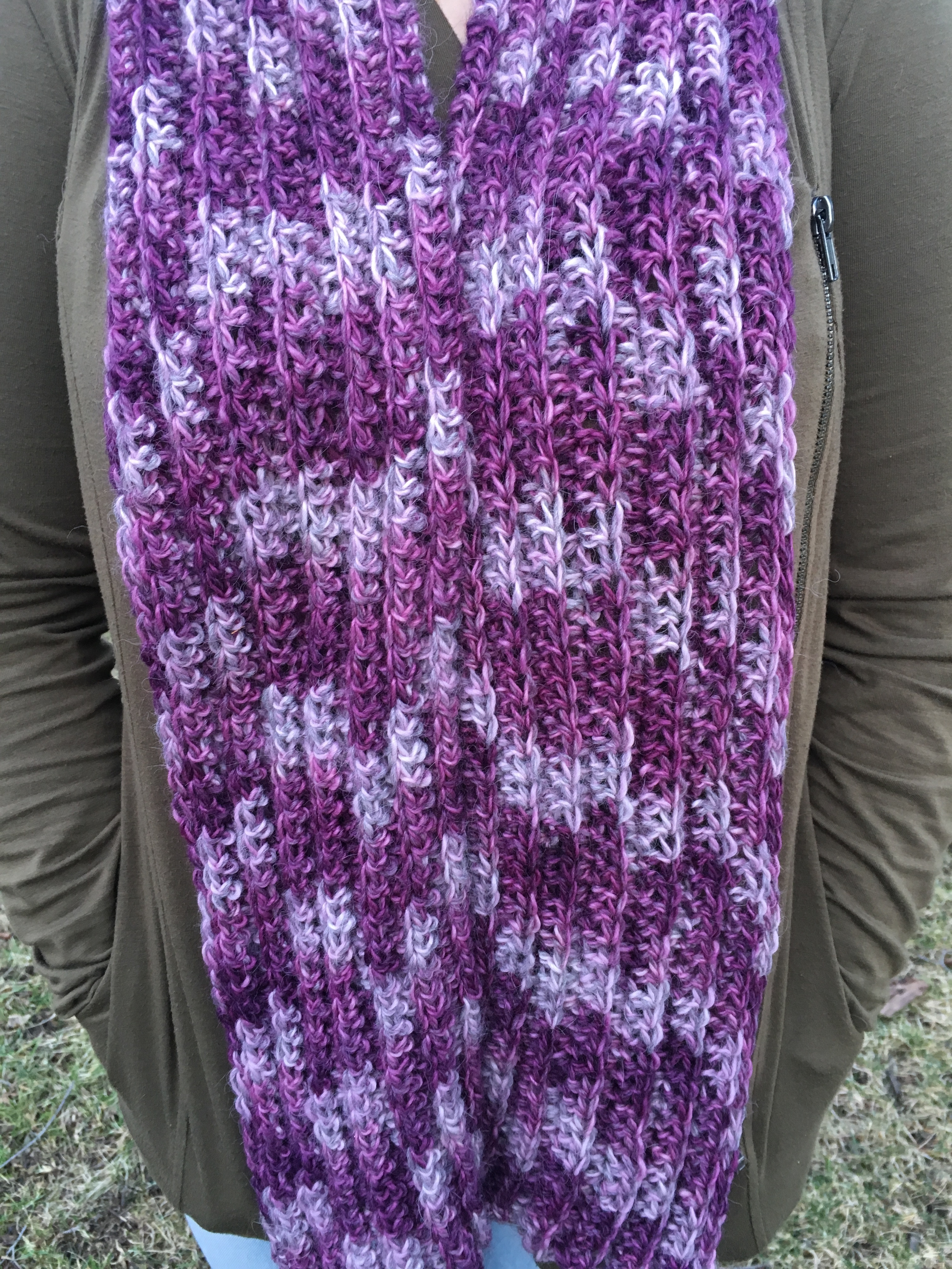 Swizzle Alpaca Ribbed Scarf - Made to Order 18066