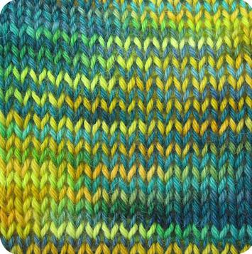 Alpaca and Superwash Wool Sock Yarn - Angry Peacock