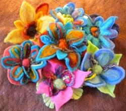 Bloomin' Brites Needle Felted Flowers Kit B2B-10010