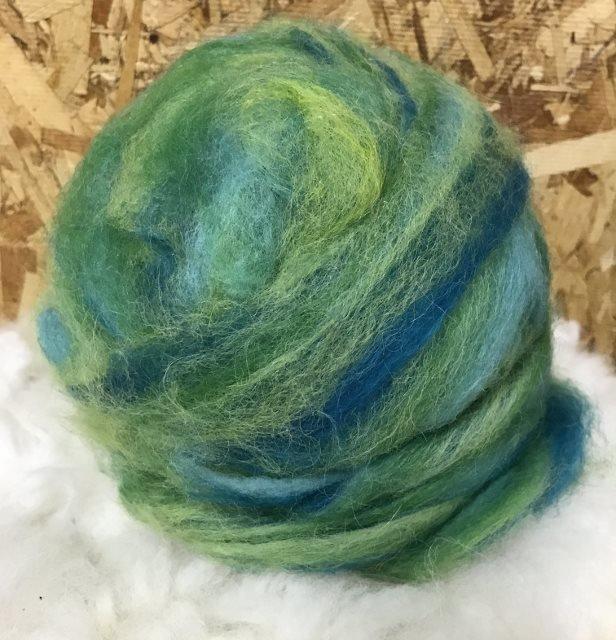 Alpaca Wool Roving - Mermaid