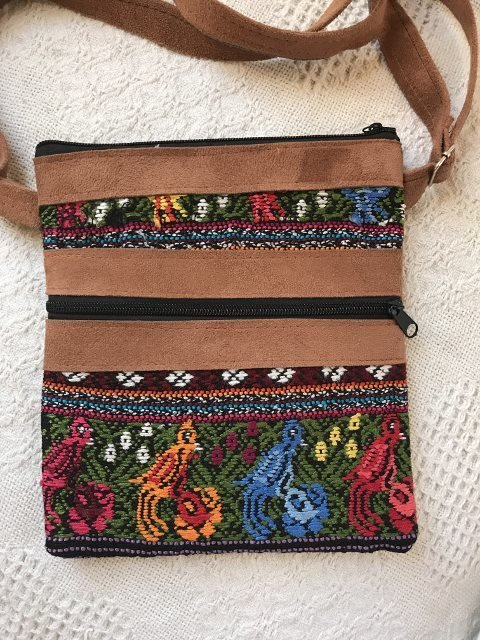 Handwoven and Leather Shoulder Bag 18185