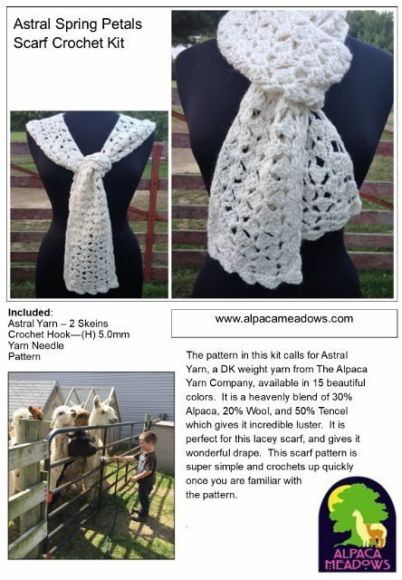 Alpaca Crochet Kit - Lacy Scarf