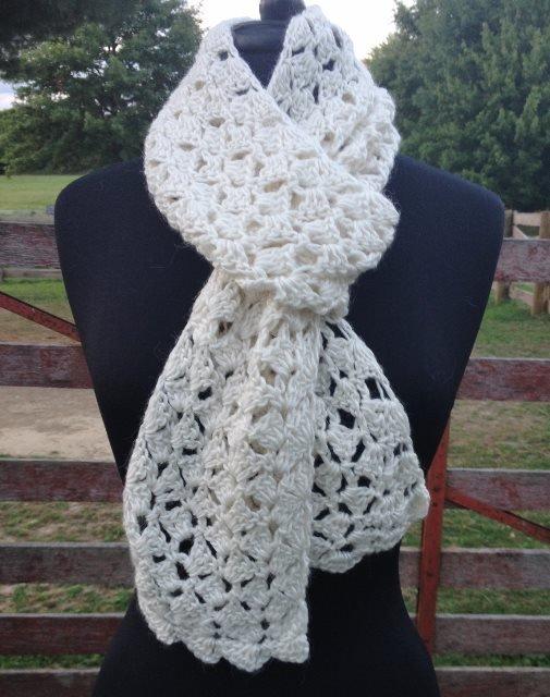Alpaca Crochet Kit - Lacy Scarf