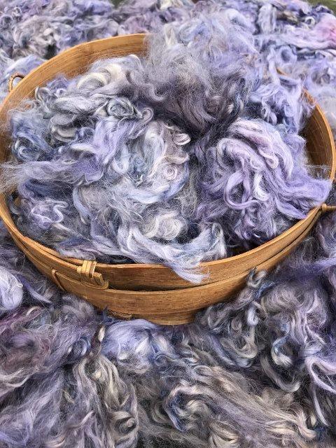 Hand-Dyed Suri Alpaca Fiber, 4.5 Inches, Light Mulberry
