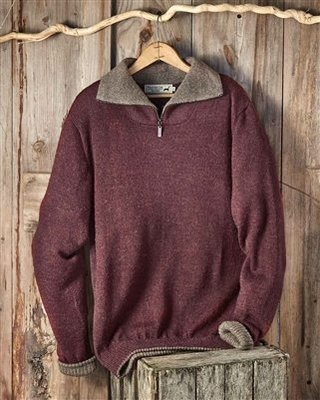 Men's Alpaca Zipper Sweater