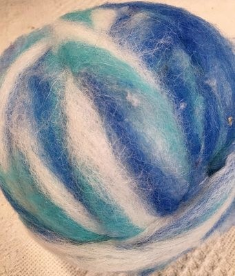 Alpaca Wool Roving - Wave
