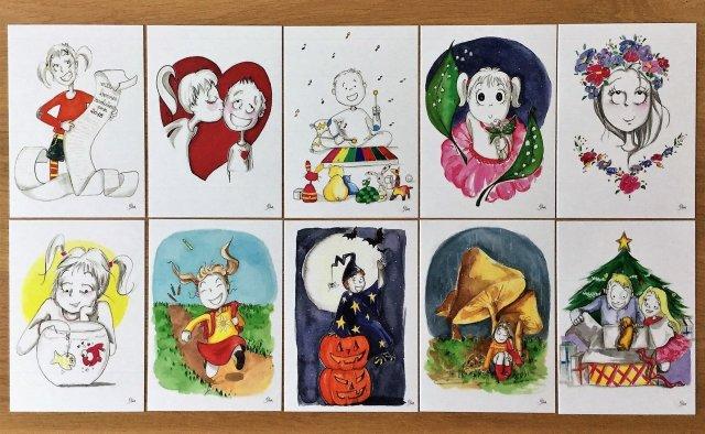 lot de 10 cartes postales 00010