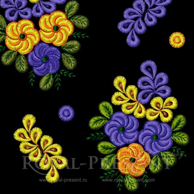 Amazing Flowers Set Embroidery Designs RPE-234