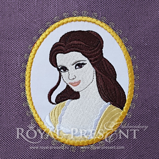Free Applique Medallion Machine Embroidery Design Beauty Belle - 2 sizes RPE-793