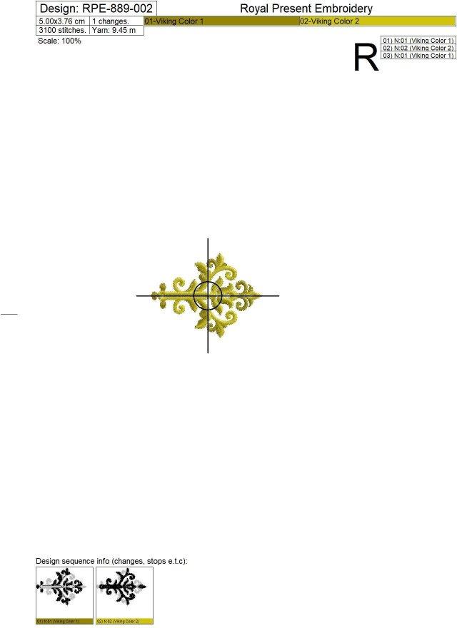 Machine Embroidery Designs Baroque buttonholes