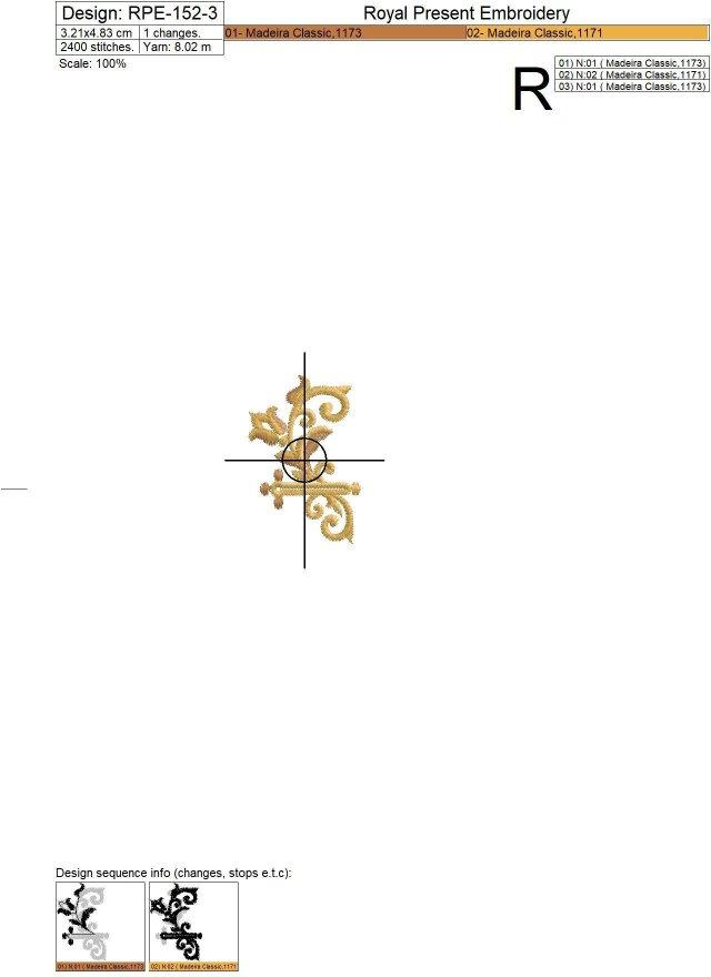 Baroque buttonholes Embroidery Designs