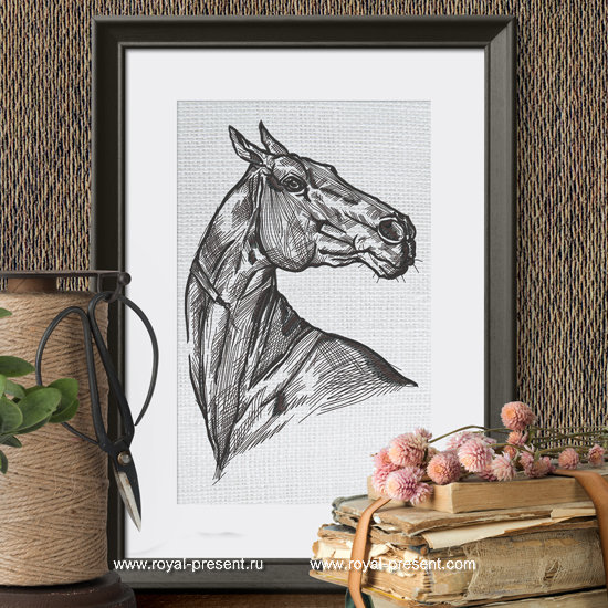 Horse embroidery design - 6 sizes RPE-1277