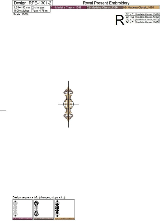 Three Baroque buttonholes Machine Embroidery Designs