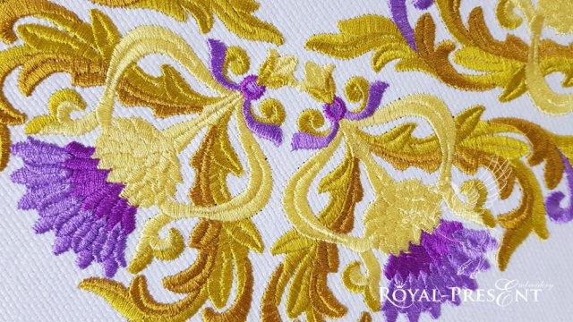 Golden Thistle corner Machine Embroidery Design