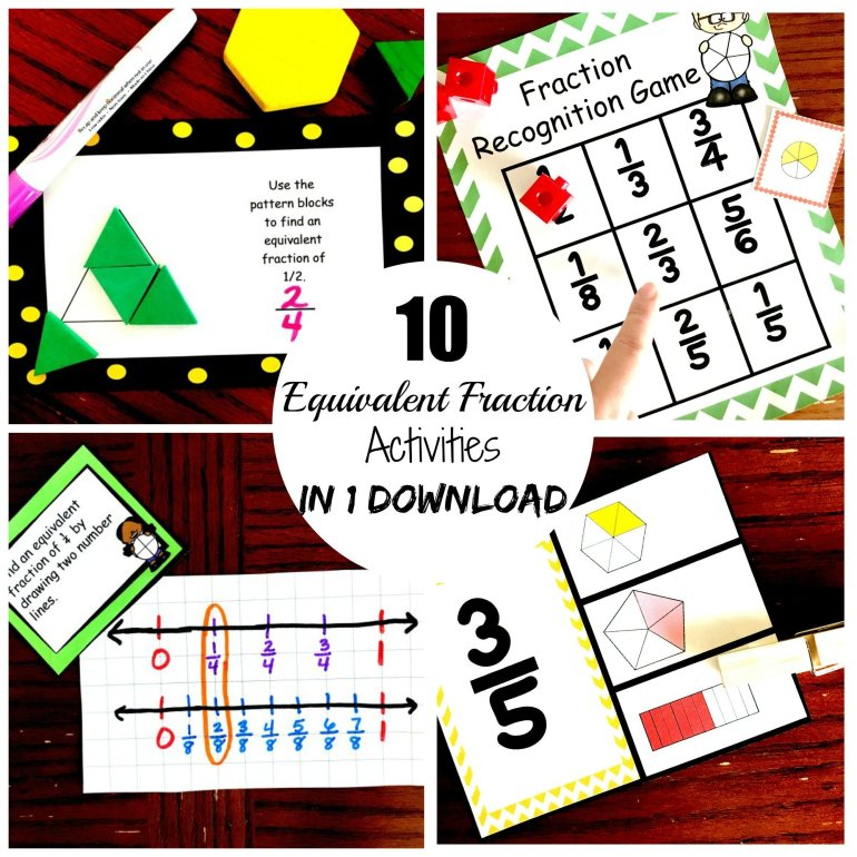 10 Equivalent Fraction Activities 00000